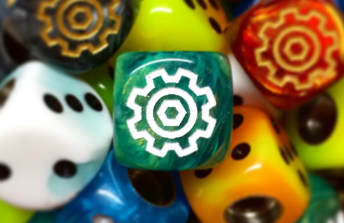 Turning Gears Dice Valve Caps