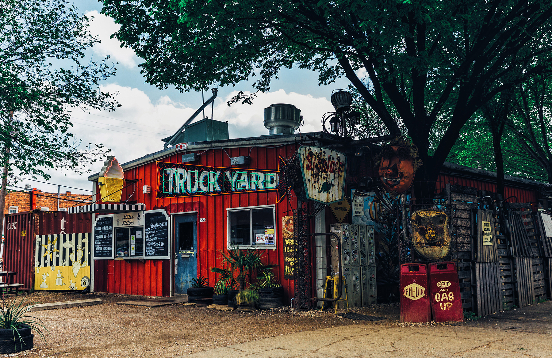 The front of the Truck Yard in Dallas.